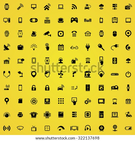 internet of things 100 icons universal set for web and mobile