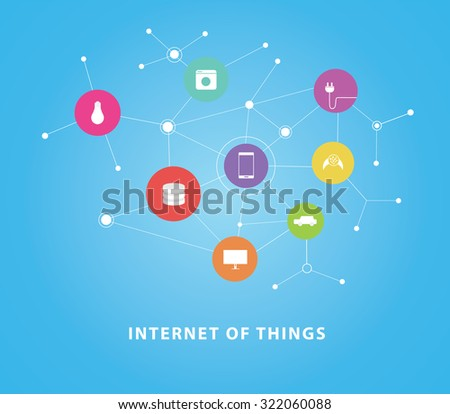 internet of things vector flat design concepts internet connecting all tools in home