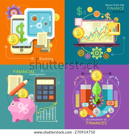 Internet online banking. Accumulation of finances concept of a magnet attracting golden coins. Accounting with digitial caculator. Financial diagram on a laptop monitor. News from finance market