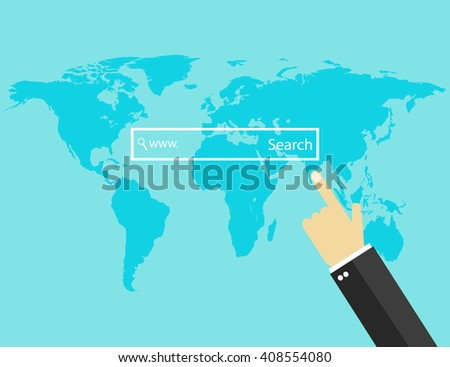 Internet search bar. Vector illustration - stock vector