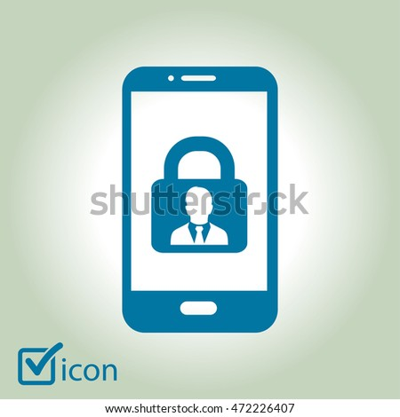 Internet security concept  icon. Identification and protection simbol.