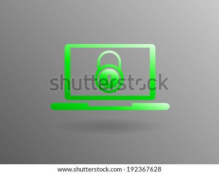 Internet security icon - stock vector