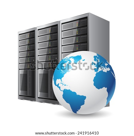 Internet server - stock vector