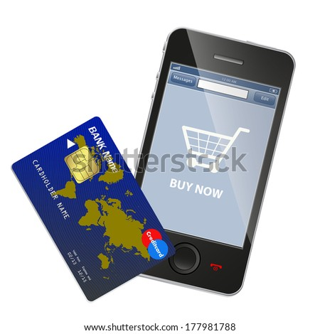 Internet shopping concept - stock vector