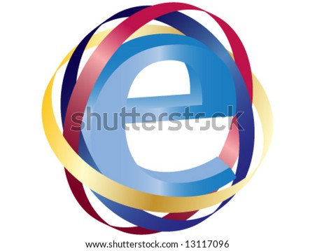 Internet sign - stock vector