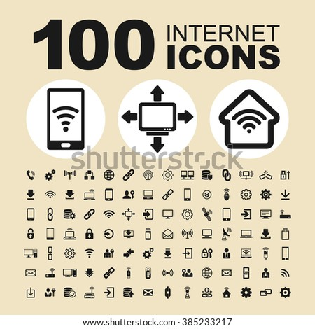 Internet technology icons. Communication pictogram. Connection vector graphic.