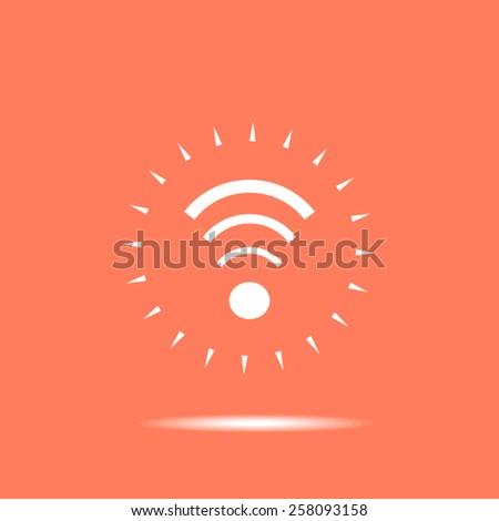 Internet vector icon - stock vector