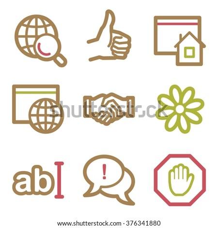 Internet web icons - stock vector