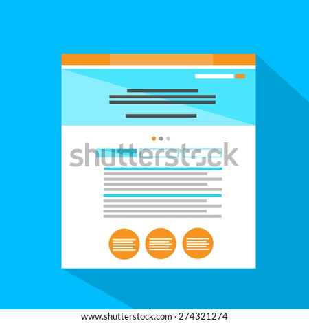 Internet Web Site Page Flat Icon Vector Illustration - stock vector