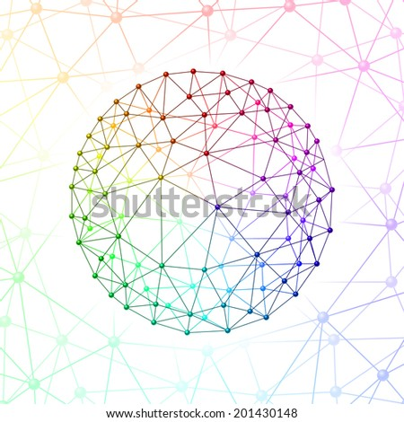 Internet web sphere on  background of the web connected - stock vector