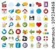 Internet, Website icons Set - stock vector
