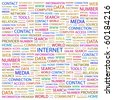 INTERNET. Word collage on white background. Illustration with different association terms. - stock photo