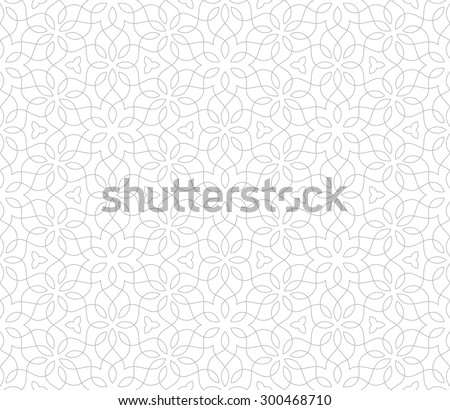 Intersecting curved elegant lines and scrolls forming abstract floral ornament. Seamless pattern for textile printing, packaging, wrapper, etc.  - stock vector