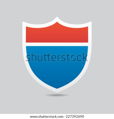 Interstate Road Shield Vector - stock vector