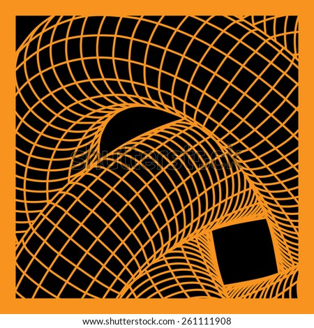 Intertwined Geometrical Figure - stock vector