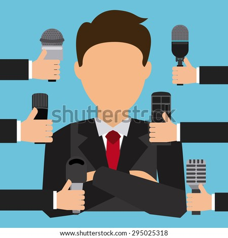 interview concept design, vector illustration eps10 graphic  - stock vector