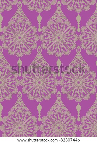 intricate flower motif - stock vector