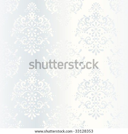 Intricate white satin wedding pattern(vector); a JPG version is also available - stock vector