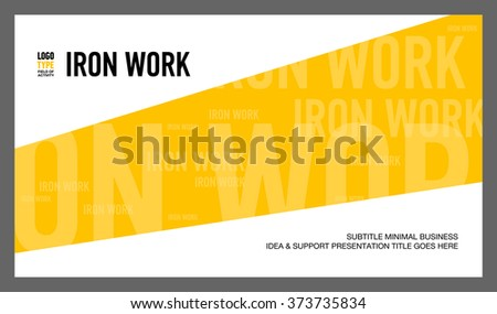Introducing Presentation Slide 3 - stock vector