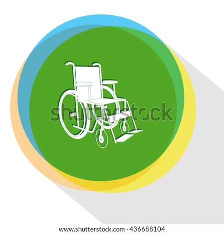 invalid chair. Internet template. Vector icon. - stock vector