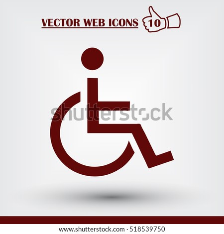 Invalid sign icon, vector illustration. Flat design style.