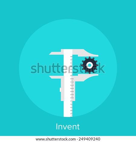 Invent - stock vector