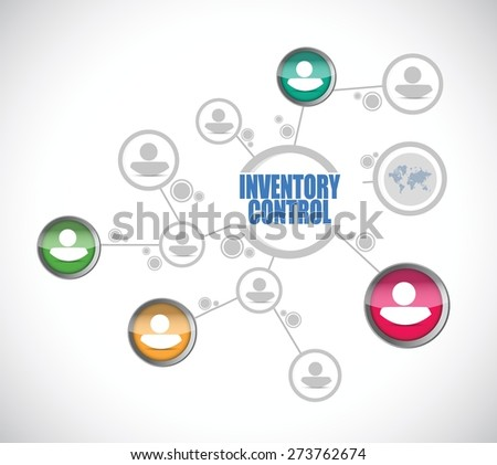 inventory control people diagram sign concept illustration design over white - stock vector