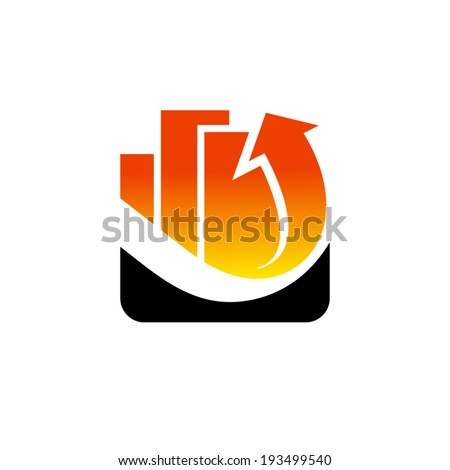 Investing in Real Estate abstract sign Branding Identity Corporate vector logo design template Isolated on a white background - stock vector