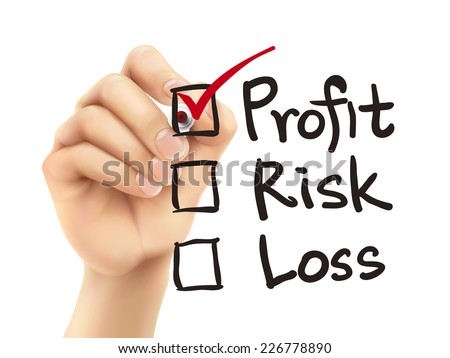 investment checklist checking by 3d hand over white background