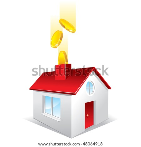 investment in real estate, concept - stock vector
