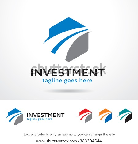 Investment Logo Template Design Vector - stock vector