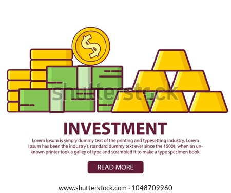 Investments Business Concept Statistic Gold Securities Financial