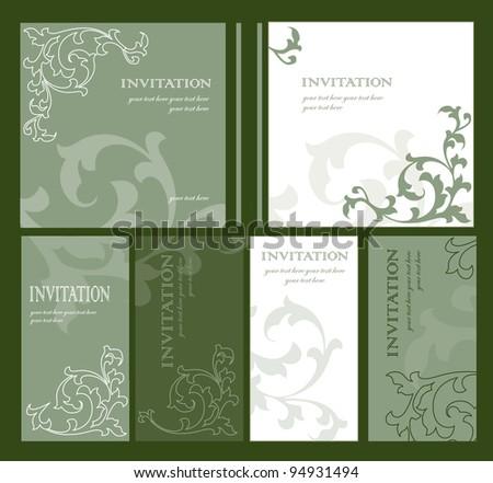 invitation - stock vector