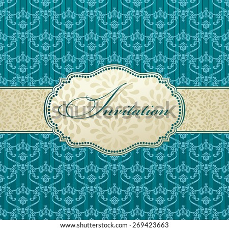 invitation art vector frame package label vintage with retro abstract backgrounds card