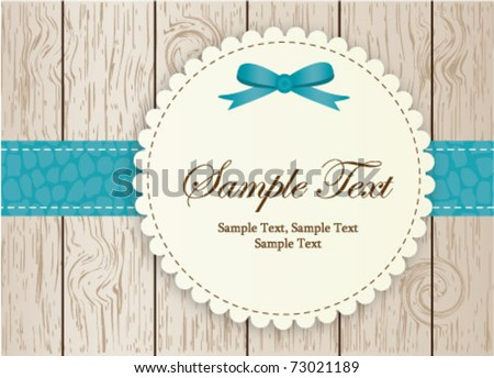 invitation-blue - stock vector