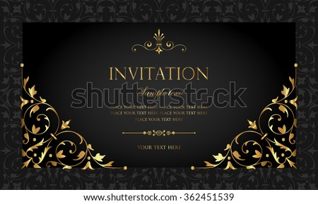 Invitation Card Vector 362451539 Shutterstock – Invition Card