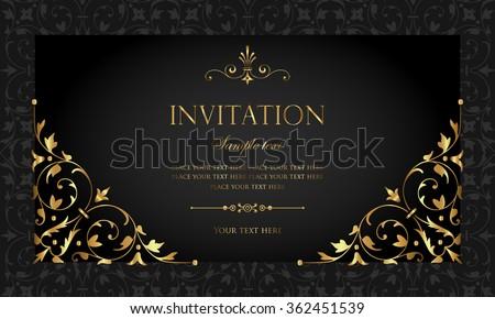 Invitation card stock vector 2018 362451539 shutterstock invitation card stopboris Image collections