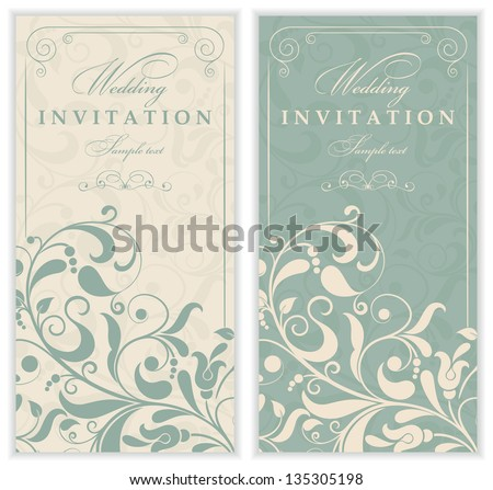 Invitation card Baroque - stock vector