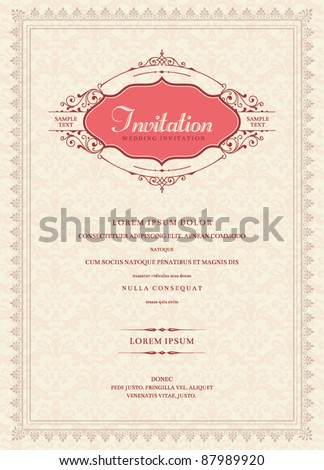 Invitation card design - stock vector