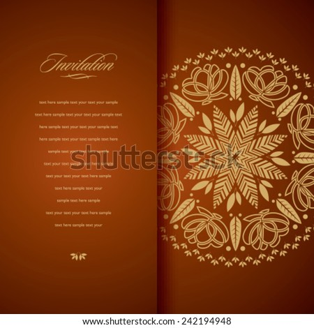 invitation card - Illustration - stock vector