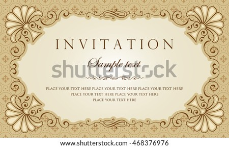 Invitation card vector design stock vector 468376976 shutterstock invitation card vector design stopboris Images