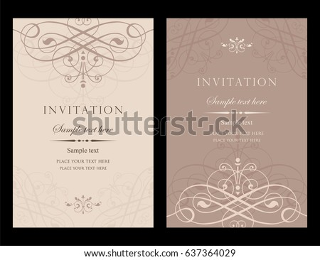 Invitation card vector design vintage style stock vector 637364029 invitation card vector design vintage style stopboris Image collections