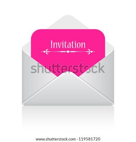Invitation card vector illustration - stock vector