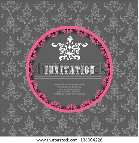 invitation card, wedding invitation, place with text, announcement - stock vector