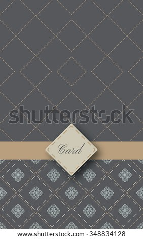 Invitation card with classic ornamental background, Vintage design - stock vector