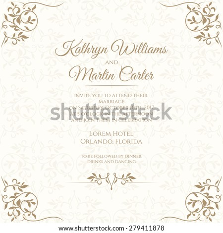 Invitation Images RoyaltyFree Images Vectors – Template Invitation Card
