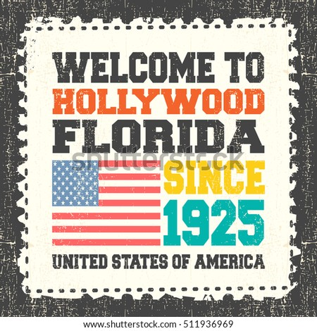 Invitation card text welcome hollywood state stock vector 2018 invitation card with text welcome to hollywood state florida since 1925 with stopboris Gallery