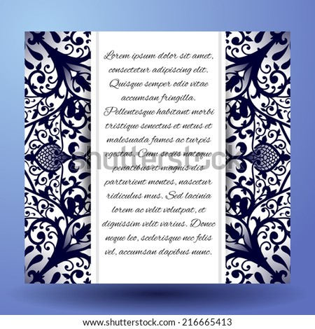 Invitation cards with floral elements