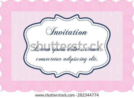 Invitation. Customizable, Easy to edit and change colors.Retro design. Printer friendly.  - stock vector