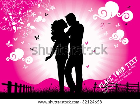 Invitation / Declaration / Flyer of Love - stock vector